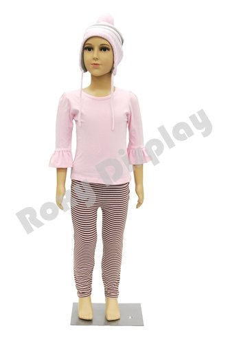 (PS-D2/D02+One free Wig) ROXYDISPLAY™ Plastic Child Mannequin. 5-6 Years old, standing pose. Turnable arms,removable and turable head with One free Wig. Roxy Display Inc
