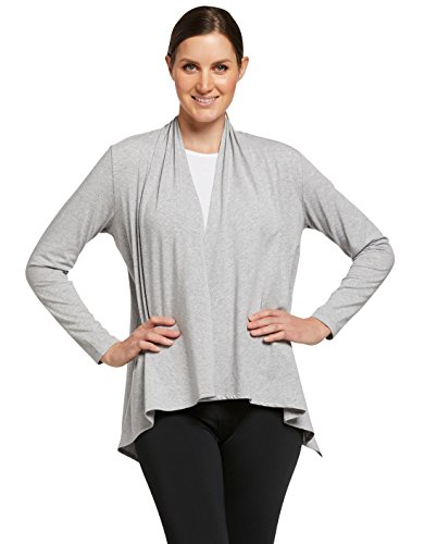 Solbari UPF 50+ Women's Sun Protection Luxe Sun Wrap - Large-X-Large - Light Grey Marle - UV Protection, Sun Protective