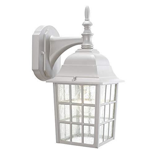 Design House 506097 Earl Grey 1 Light Indoor/Outdoor Wall Light, Sanded Aluminum
