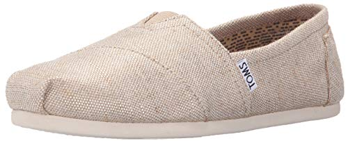 TOMS Women's Seasonal Classics Flat Natural Metallic Burlap 8 B - -