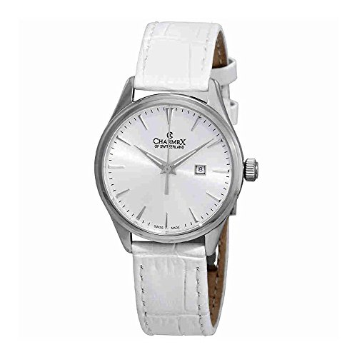 Charmex White Dial White Leather Ladies Watch 6385