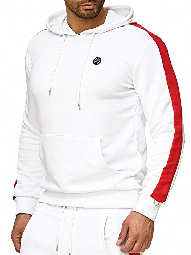 Capuche Hommes Longues Rayures À White Pull Gym Redbridge Sweatshirt Manches wX6HxxP
