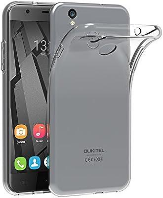AICEK Funda Oukitel U7 Plus, Oukitel U7 Plus Funda Transparente Gel Silicona Oukitel U7 Plus Premium Carcasa para Oukitel U7 Plus
