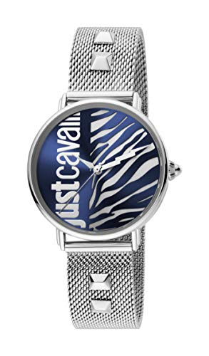 Just Cavalli JC1L077M0065 316L Stainless Steel Mineral Crystal Deployment Buckle Watch
