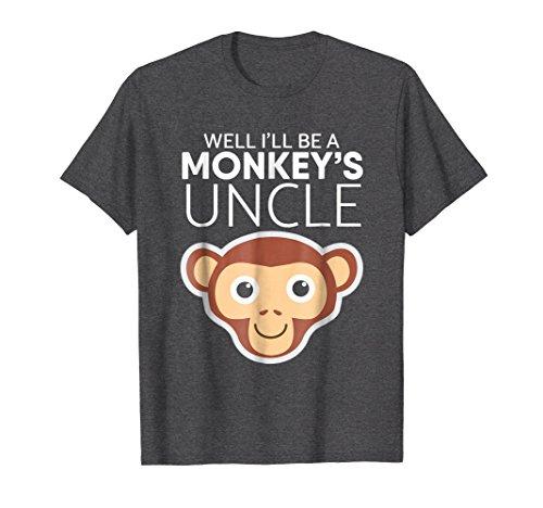 Mens Monkey's Uncle T-shirt Pregnancy Announcement T-shirt 2XL Dark Heather
