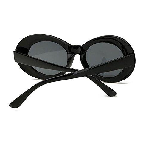 sol de libre Gafas anteojos Hzjundasi de Gafas aire Cadena de gato de Mujeres moda Negro Ojo Sol Hombres Gafas Vintage Antideslizante Gafas Para de al p8nvpqzO
