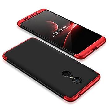 Funda Xiaomi Redmi 5 Plus, 360 Grados Integral Carcasa Cuerpo Completo Caso Cubierta, 3 en 1 Híbrido Anti-Choque Snap On Case, Anti-Arañazos & ...