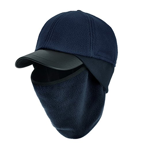 ECYC Masked Scarf Fleece Cap Hat Warm Windproof Balaclava for Women Men Ski Masks for Outdoor Winter Sports