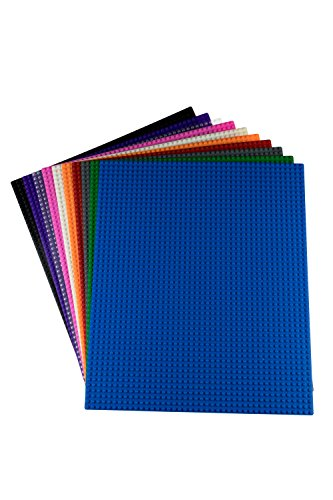 Strictly Briks Classic Baseplates for Building Bricks by 100% Compatible with Major Brands | Building Bases for Tables, Mats and More! | 10 Assorted Colors Base Plates 15.75