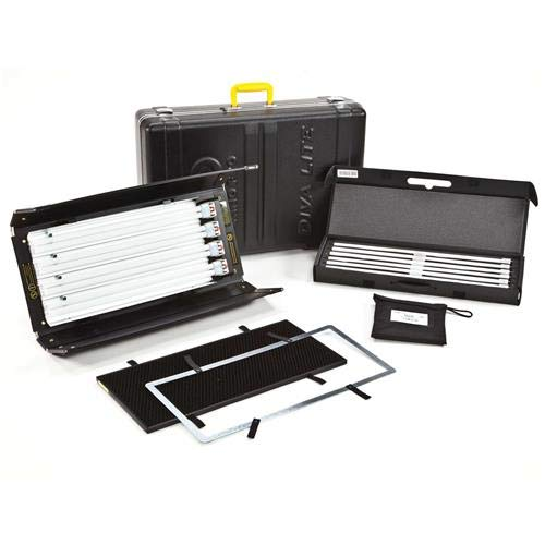 Kino Flo Diva-Lite 401 Kit with Travel & Lamp Cases, 120VAC - Kino Diva Light