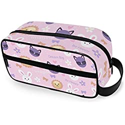 Travel Toiletry Bag for Women or Men - Animales Coloridos Printing Handing Cosmetic Make Up Bag Organizer Pouch for Bathroom Shower