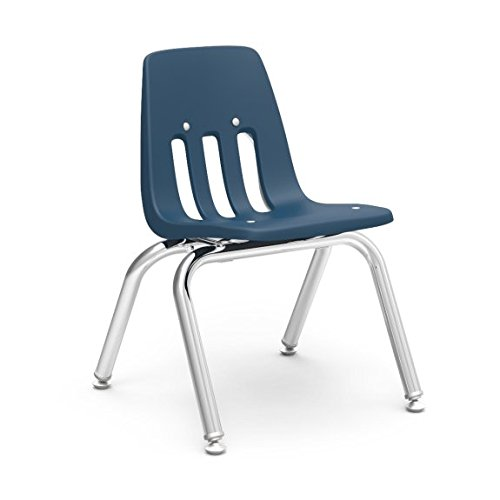 Virco Student Chair, Navy, Soft Plastic Shell, 12