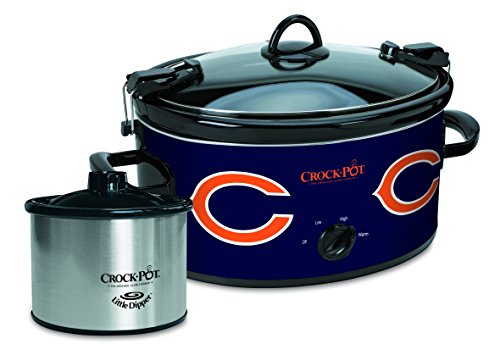 Crock-Pot Chicago Bears NFL Cook & Carry Slow Cooker with Bonus 16-ounce Little Dipper Food Warmer