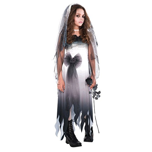 Dead Bride Costume Amazon (Amscan Graveyard Bride-Small (4-6) Children Costume)