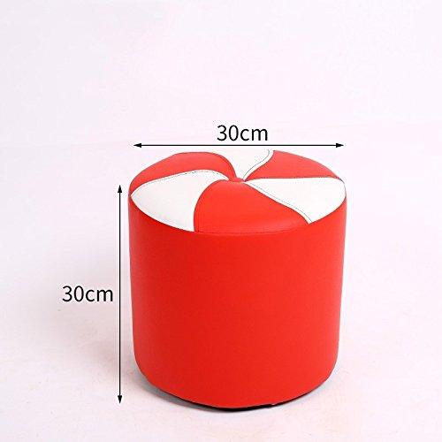 Red 30cm STJK BMJW Footstool Stool Stool Stool Stool Stool Door Stool Small Stool bluee 30Cm