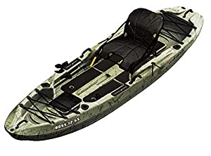 SUNDOLPHIN Sun Dolphin Boss SS Sit-On/Stand On Top Angler Kayak (Grass Camo, 12.3-Feet)