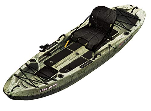 SUNDOLPHIN Sun Dolphin Boss SS Sit-On/Stand On Top Angler Kayak...