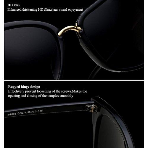 Sunglasses Lentilles de Womens Soleil des Girls Cordons Chaîne de éblouissement with Dames Lunettes Transparent Chain Zhhlinyuan Protection Carré Cadre Lunettes Anti Des Yeux de Grand nBCcPxqWT