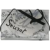 JAM Paper Business Card Cases - 3 1/2'' x 2 1/4''x 1/4'' - Clear with Black Art Institute of Chicago Designs - 100 cases per pack