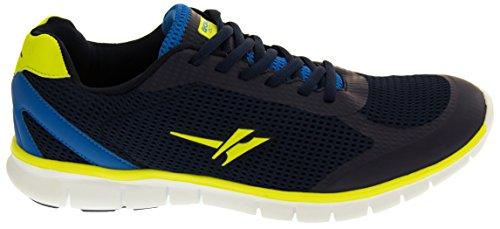 Gola Active Active Hombre Ligero Casuales Zapatillas de Deporte Zapatos para Correr Azul Marino