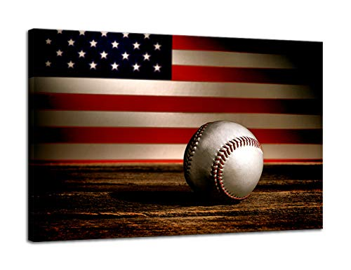 289bff567f12 Urttiiyy Large Poster Retro American Flag Baseball Military Wall Art Canvas  Prints Thin Blue Red Line Home Decor Pictures for Living Room Bedroom  Painting ...