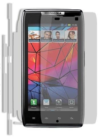 (Motorola Razr Screen Protector + Full Body, Skinomi TechSkin Full Coverage Skin + Screen Protector for Motorola Razr Front & Back Clear HD Film)