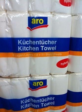 Küchenrolle //Küchentuch Küchenpapier 16 Küchenrollen  3-lagig hochweiß