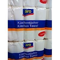 40 Rollen Küchenpapier Küchenrollen hochweiß 3-lagig Premium Qualität 51 Blatt
