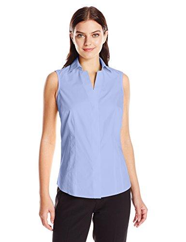 Foxcroft Women's Taylor Sleeveless Non Iron Shirt, Blue Wave, 12