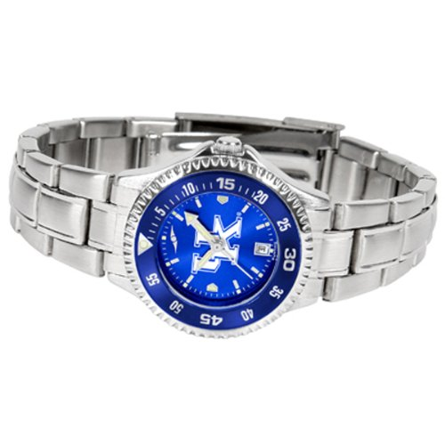 Kentucky Wildcats Competitor Steel Watch - Kentucky Wildcats Competitor Steel AnoChrome Women's Watch - Color Bezel