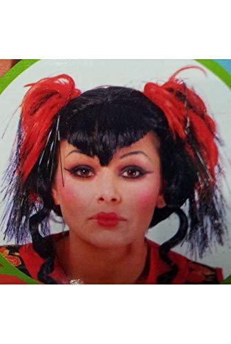 Peluca moño negra funky - geisha - japonesa: Amazon.es: Ropa y ...