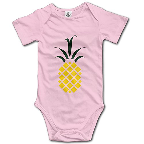 Price comparison product image PINEAPPLE Short Sleeve Romper Play Suit For Toddler Size 12 Months Pink