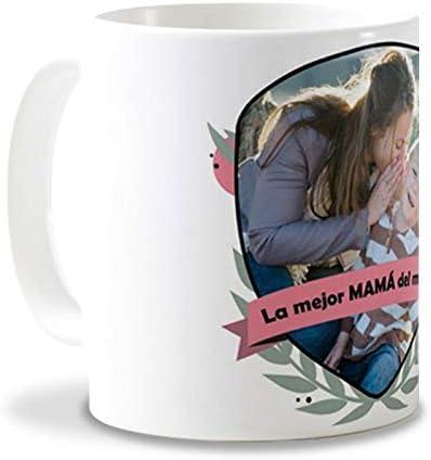 Getsingular Tazas con Fotos Día de la Madre | Tazas de cerámica Blanca Taza Original para el Día de la Madre, Cumpleaños, Navidad o Cualquier Fecha Especial | Frase La Mejor Mama del Mundo