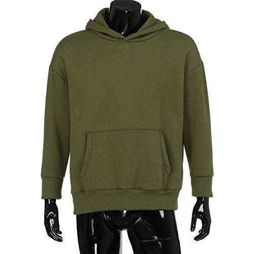 Mujer Color Pareja Streetwear large De Con Suelta color Moda Blusa Tamaño Larga Pullover Negro Verde Tops Manga Buena Frescos X Para Capucha Elegante Sudadera Sólido 5qXtwFX