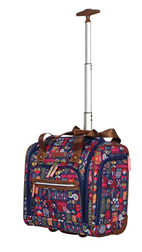 Lily Bloom Under the Seat Design Pattern Carry on Bag With Wheels (One Size, Geo ()