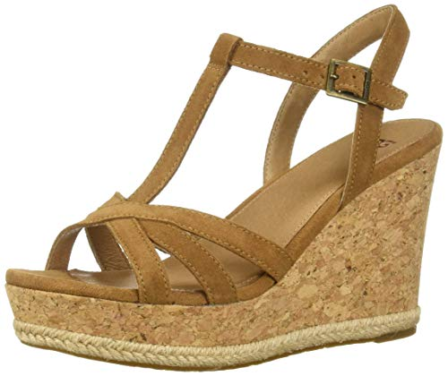 Brown Wedge Heels Suede - UGG Women's Melissa Wedge Sandal, Chestnut, 8 M US