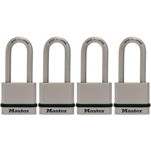 Master Lock M530XQLH Magnum Solid Steel Keyed Alike Padlocks, 4 Pack