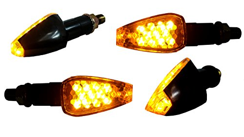 OZ-USA 4X Turn Signal LED Dual Sport Motorcycle Dirt Bike Supermoto Light Blinker ()