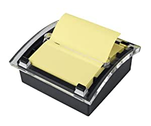 Post-it Pop-up Notes Dispenser for 3 x 3-Inch Notes, Black Dispenser, Includes Canary Yellow Notes