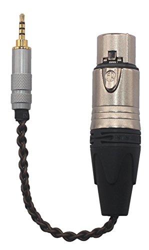 KK-2.5-4XLR (XLR4) HIFI 2.5mm Trrs Balanced to 4-pin XLR Balanced Female Headphone Audio Adapter for Astell&kern Ak240, Ak380, Ak320, Ak120, DP-X1, DP-X1A, FIIO X5III, KK-2.5-4XLR