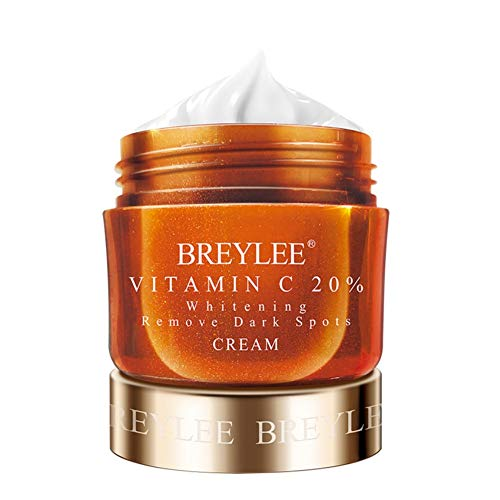 Vitamin C Cream, BREYLEE Whitening Face Cream Anti Aging Anti Wrinkle Facial Cream with Hyaluronic Acid Day and Night Moisturizing Cream for Face and Eye Beauty Care(40g, 1.41fl oz)
