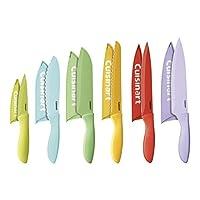 Cuisinart C55-12PCER1 Juego de cuchillos de 12 piezas Advantage Color Collection con protectores de hoja, multicolor