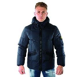 Stone Island Jacket – Autumn Winter 19 Crinkle Reps NY Down Jacket (Navy) – RRP £725 (711540223 V0020) (Large)