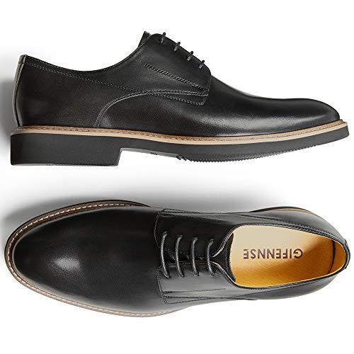 - GIFENNSE Men's Leather Lace-up Oxford Shoes Mens Dress Shoes(9US/Black