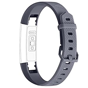 iGK For Fitbit Alta Bands and Fitbit Alta HR Bands, Newest Adjustable Sport Strap Replacement Bands for Fitbit Alta and Fitbit Alta HR Smartwatch Fitness Wristbands Black Navy Gray Large