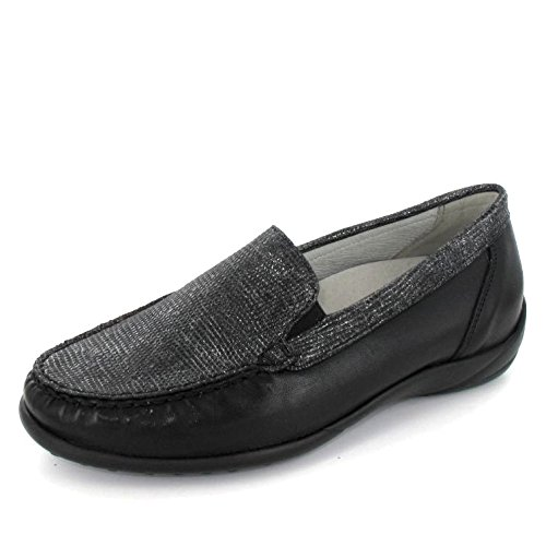 640004 Loafer Women's Black Metallic Waldlaufer FwqRgx6AA