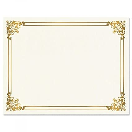 amazon com empire gold certificate on white parchment set of 50