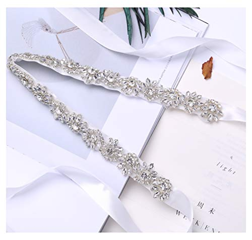 Fruit And Sun Handmade Beads Wedding Belt evening belt With Rhinestones (White) by Fruit And Sun