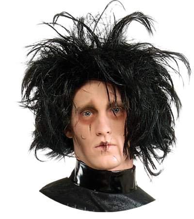 (Edward Scissorhands Adult Costume Wig, Black, One)