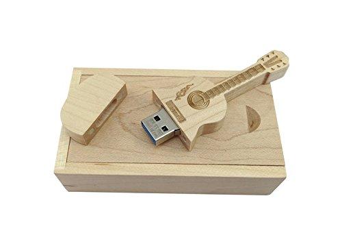 Unidad flash USB de madera de arce en forma de guitarra (en caja de madera) (32.0 GB): Amazon.es: Informática